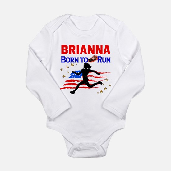 PERSONALIZE RUNNER Long Sleeve Infant Bodysuit