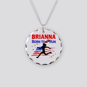 PERSONALIZE RUNNER Necklace Circle Charm