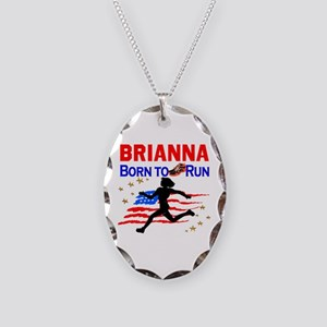 PERSONALIZE RUNNER Necklace Oval Charm