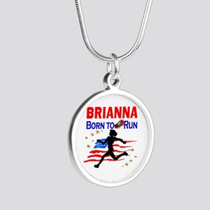 PERSONALIZE RUNNER Silver Round Necklace