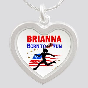 PERSONALIZE RUNNER Silver Heart Necklace