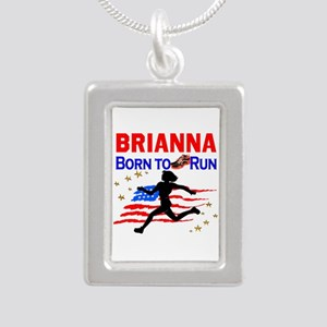 PERSONALIZE RUNNER Silver Portrait Necklace