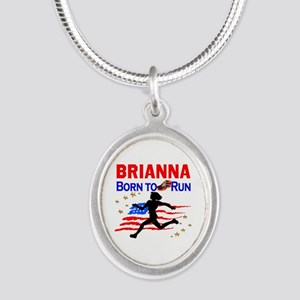 PERSONALIZE RUNNER Silver Oval Necklace