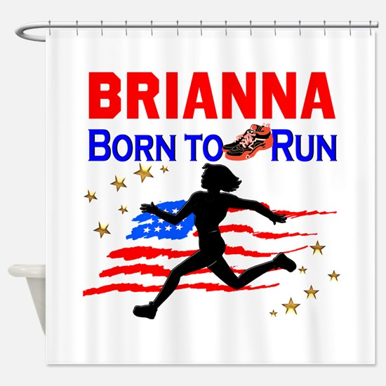 PERSONALIZE RUNNER Shower Curtain