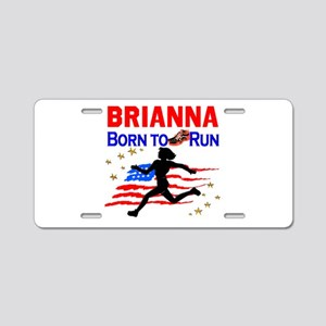 PERSONALIZE RUNNER Aluminum License Plate