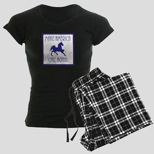 GAITED HORSE - Make America Women's Dark Pajamas
