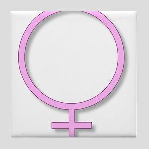 Femininity Sign Tile Coaster