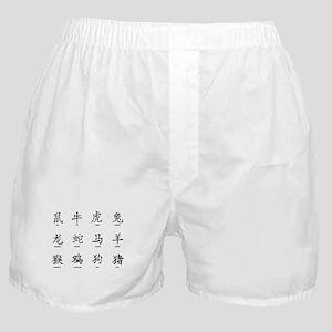 Chinese Years Sumbols Boxer Shorts