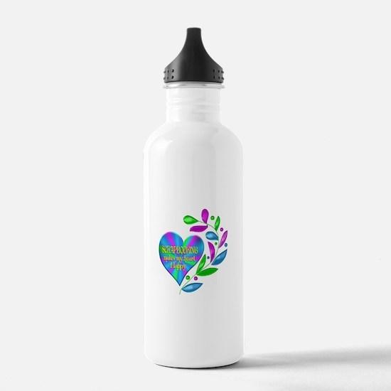 Scrapbooking Happy Hea Water Bottle