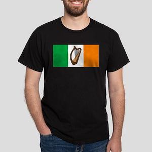 Irish Flag With Harp T-Shirt