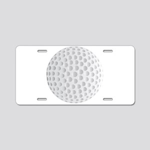 Isolated Golf Ball Aluminum License Plate