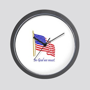 In God we must Wall Clock