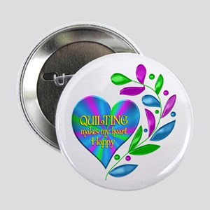 """Quilting Happy Heart 2.25"""" Button (10 pack)"""