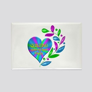 Quilting Happy Heart Rectangle Magnet