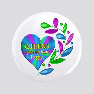 Quilting Happy Heart Button