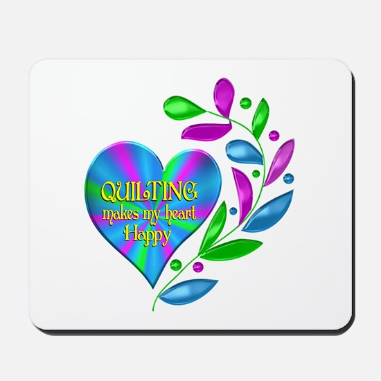 Quilting Happy Heart Mousepad