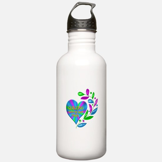 Quilting Happy Heart Water Bottle