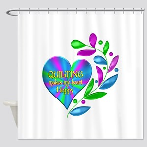 Quilting Happy Heart Shower Curtain