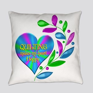 Quilting Happy Heart Everyday Pillow