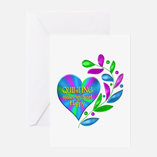 Quilting Happy Heart Greeting Card