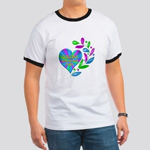 Quilting Happy Heart Ringer T