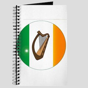 Irish Flag With Harp Button Journal