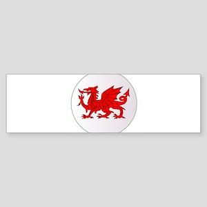 Welsh Dragon Button Bumper Sticker
