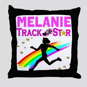 PERSONALIZE RUNNER Throw Pillow