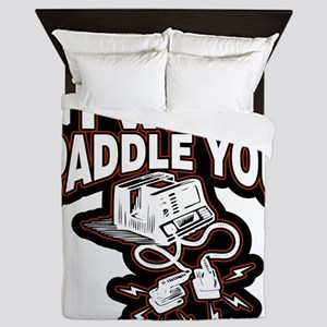 If You Fib I Will Paddle You Queen Duvet