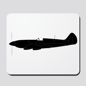 Fighter Plane Silhouette Mousepad