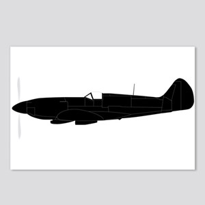 Fighter Plane Silhouette Postcards (Package of 8)