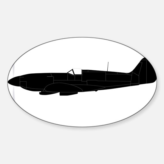 Fighter Plane Silhouette Decal