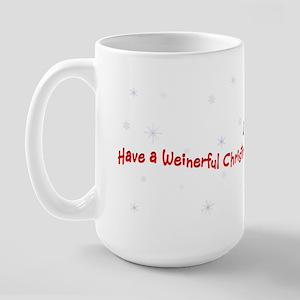 Red Piebald Santa Large Mug