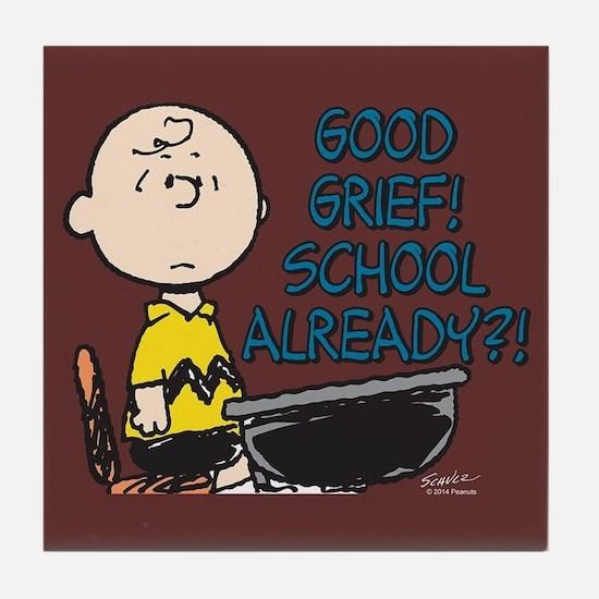 Charlie Brown - Good Grief! School Al Tile Coaster