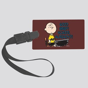 Charlie Brown - Good Grief! Scho Large Luggage Tag