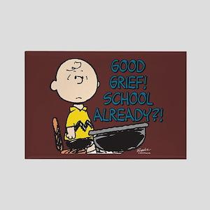 Charlie Brown - Good Grief! Schoo Rectangle Magnet