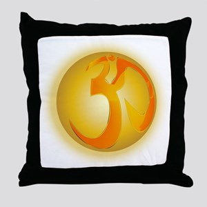 Om Globe Throw Pillow