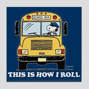 Snoopy - This Is How I Roll Tile Coaster