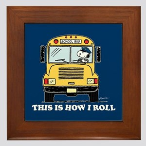 Snoopy - This Is How I Roll Framed Tile