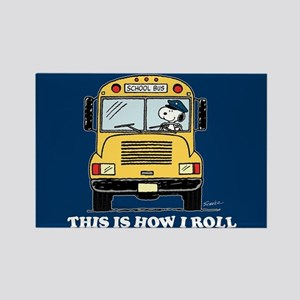 Snoopy - This Is How I Roll Rectangle Magnet