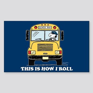 Snoopy - This Is How I Roll Sticker (Rectangle)