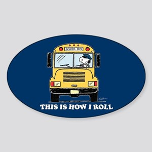Snoopy - This Is How I Roll Sticker (Oval)