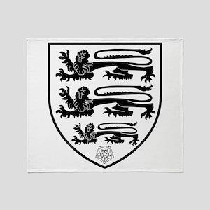 British Three Lions Crest Throw Blanket