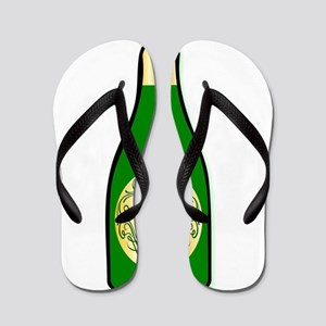50th Celebration Wine Bottle Flip Flops