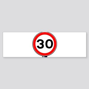30 MPH Sign Bumper Sticker