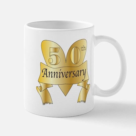 50th Anniversary Heart Mugs