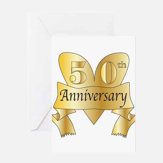 50th Anniversary Heart Greeting Cards