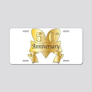 50th Anniversary Heart Aluminum License Plate