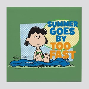 Summer Goes By Too Fast Tile Coaster