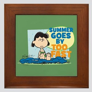 Summer Goes By Too Fast Framed Tile
